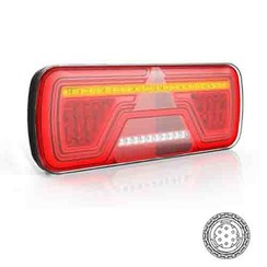 Links | Neon LED-Rücklicht | dynamische Blinken | 12-24V | 7-PIN AMP | 200cm. Kabel