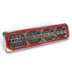 LED Neon achterlicht met dyn. knipperlicht 12/24v