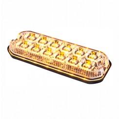 LED R65 heavy duty flitser 12-LED Amber 12/24v