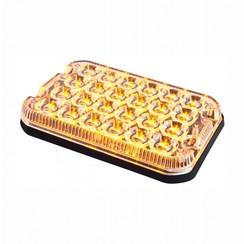 LED R65 heavy duty flitser 6-LED Amber 12/24v