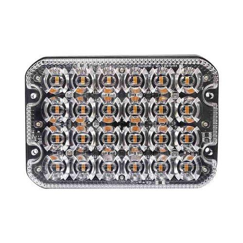 LED R65 heavy duty flitser 24-LED Amber 12/24v