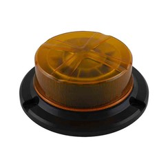LED R65 low base zwaailamp amber 3-bouts montage 12/24v