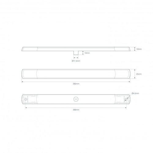 LED slimline achterlicht 12v chroom