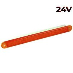 LED knipperlicht slimline 24v 40cm. kabel (Amber lens)