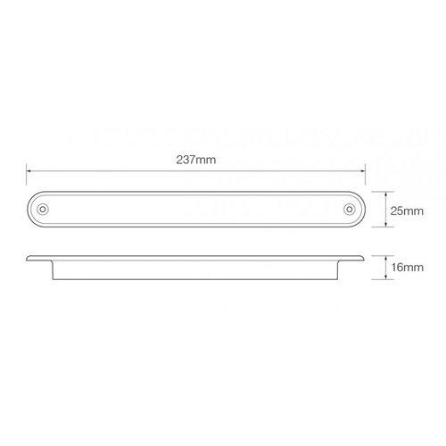 LED Autolamps  LED dynamisch knipperlicht slimline 12v 40cm. kabel (Amber lens)