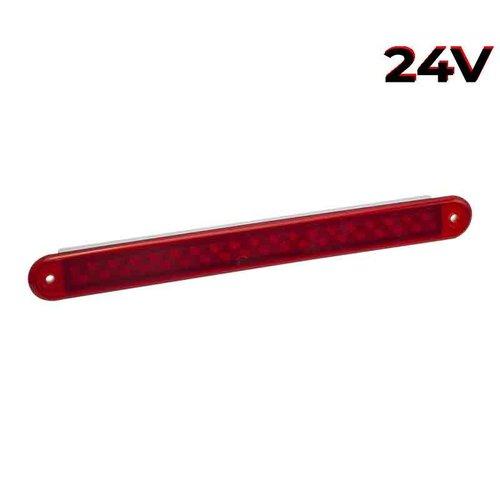 LED Autolamps  LED mistlicht slimline  24v 40cm. kabel (Rode lens)