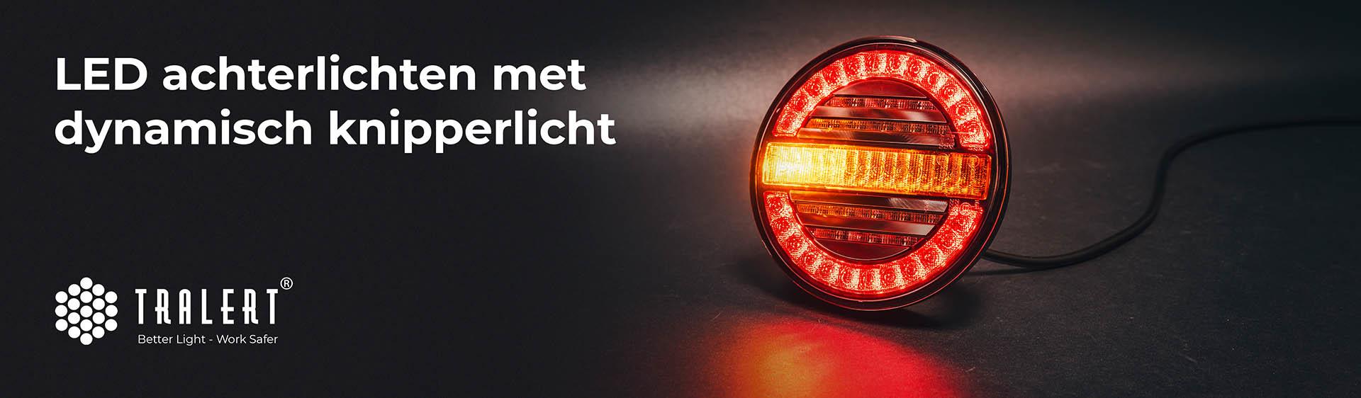 LED achterlichten dynamisch knipperlicht Tralert banner