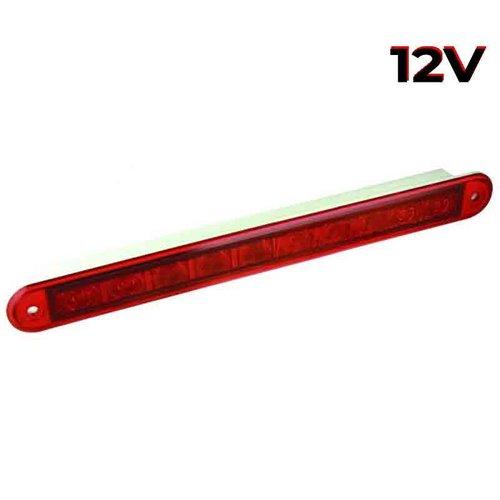 LED 3de remlicht slimline  12v 40cm. kabel (Rode lens)