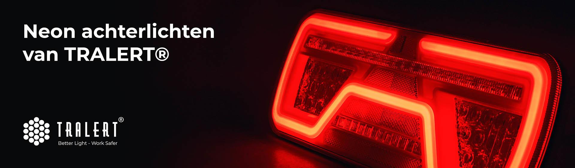LED Neon Achterlichten Tralert banner