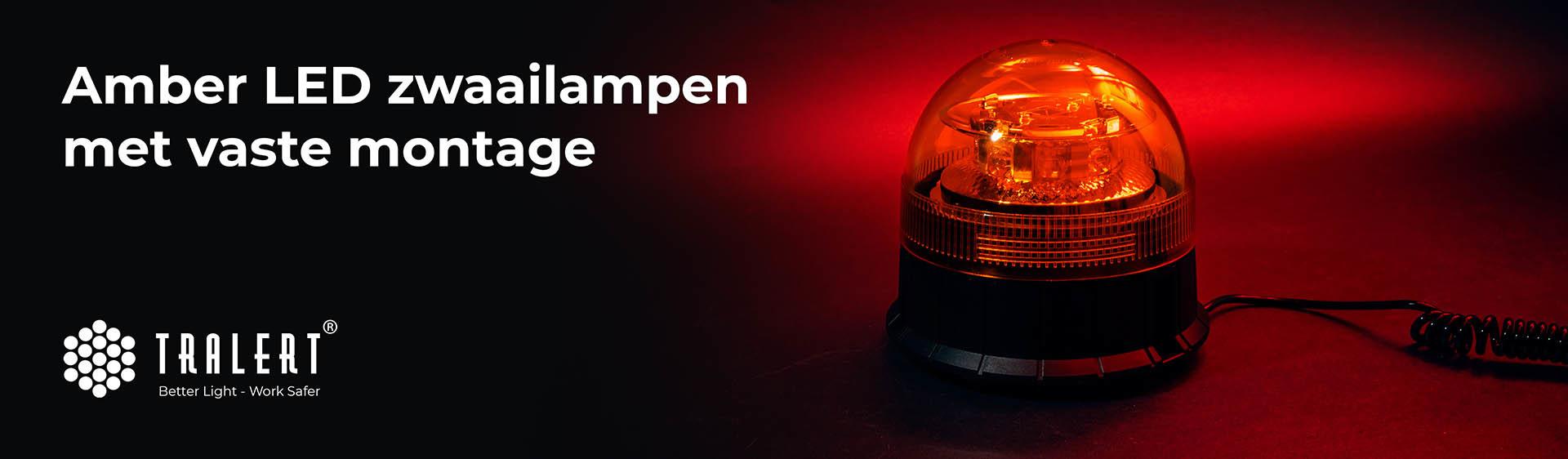 Tralert LED zwaailampen vaste montage amber banner