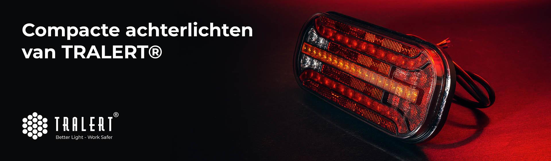 Tralert compacte LED achterlichten banner