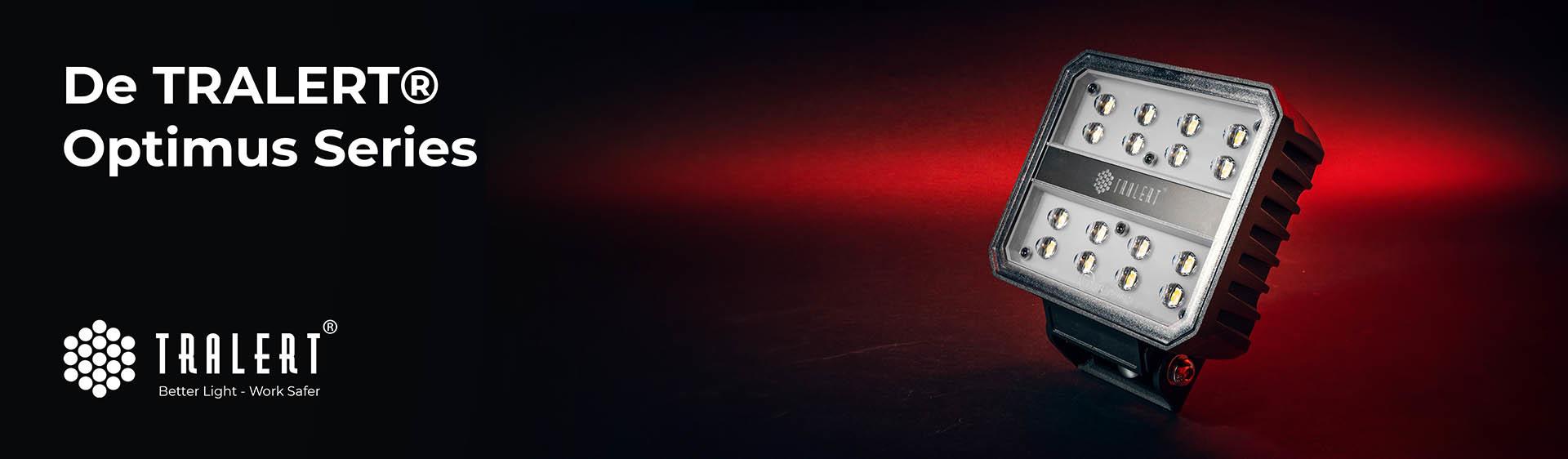 Tralert LED werklampen Optimus Series banner