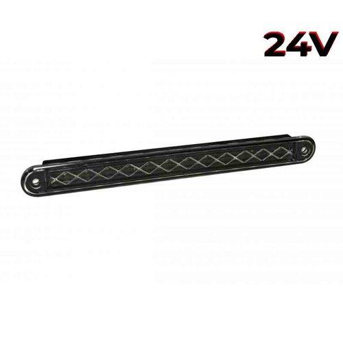 LED combinatielicht slimline  24v 40cm. kabel (Zwarte lens)