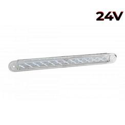 LED combinatielicht slimline  24v 40cm. kabel (Transparante lens)