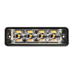 R65 Ultra platte Slimline LED Flitser 4 LED's Amber 175cm kabel | 10-30v |