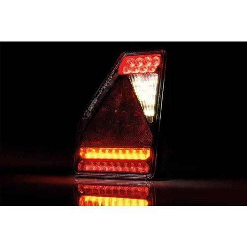 LED Achterlicht links driehoek model 12v 6-functie 6-PIN's