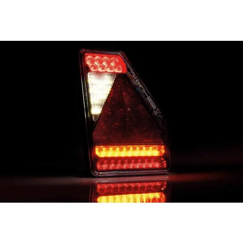 LED Achterlicht rechts driehoek model 12v 6-functie 6-PIN's