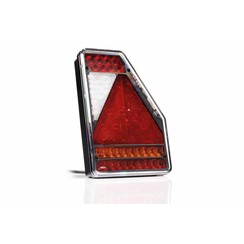 LED Taillight right triangle model 12v 6-function