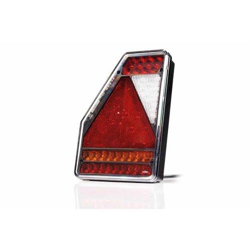 LED Achterlicht links driehoek model 12v 6-functie 1m. kabel