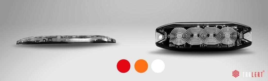 LED flitsers in kleuren, rood, amber of wit
