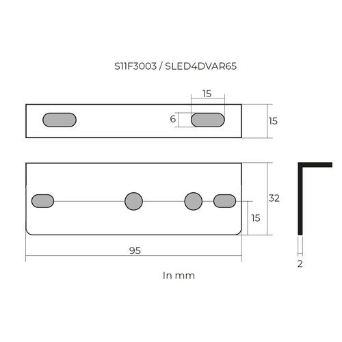 TRALERT® Montagesteun tbv S11F3003 / SLED4DVAR65 / SSLED3DV