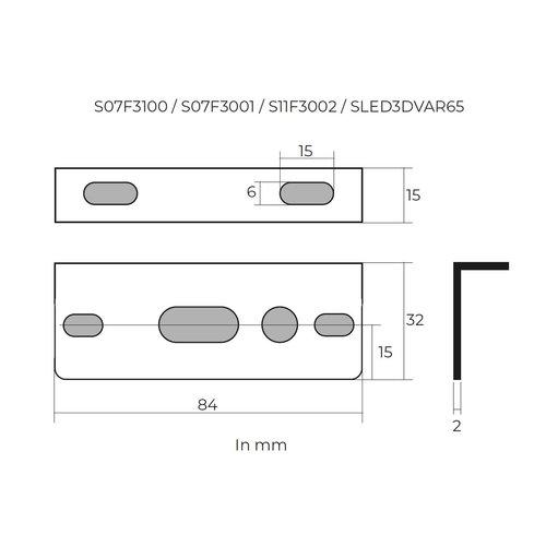 TRALERT® Montagesteun tbv S07F3001 / S07F3100 / S11F3002 /SLED3DVAR65