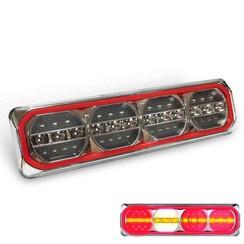 LED Neon achterlicht met dynamisch knipperlicht 12/24v