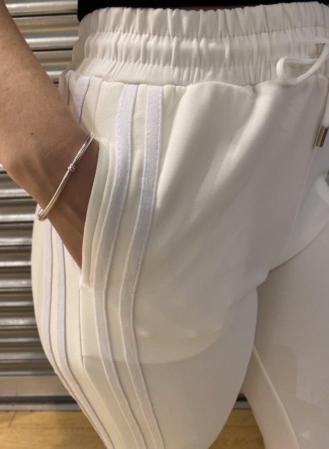 Joggings broek - gebroken wit