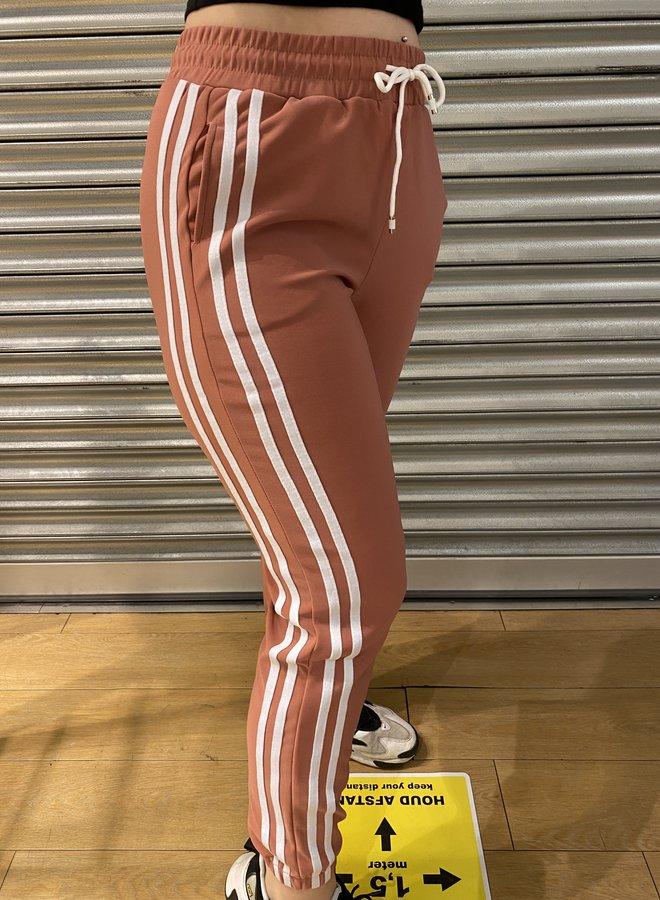 Joggings broek - oud rood