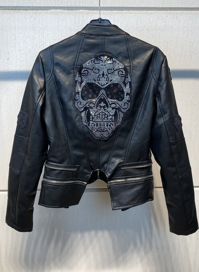 Giorgia Skull Biker Jacket