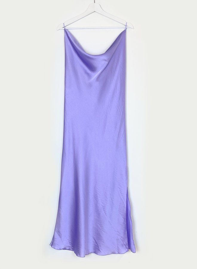 Shine Strap Dress Purple