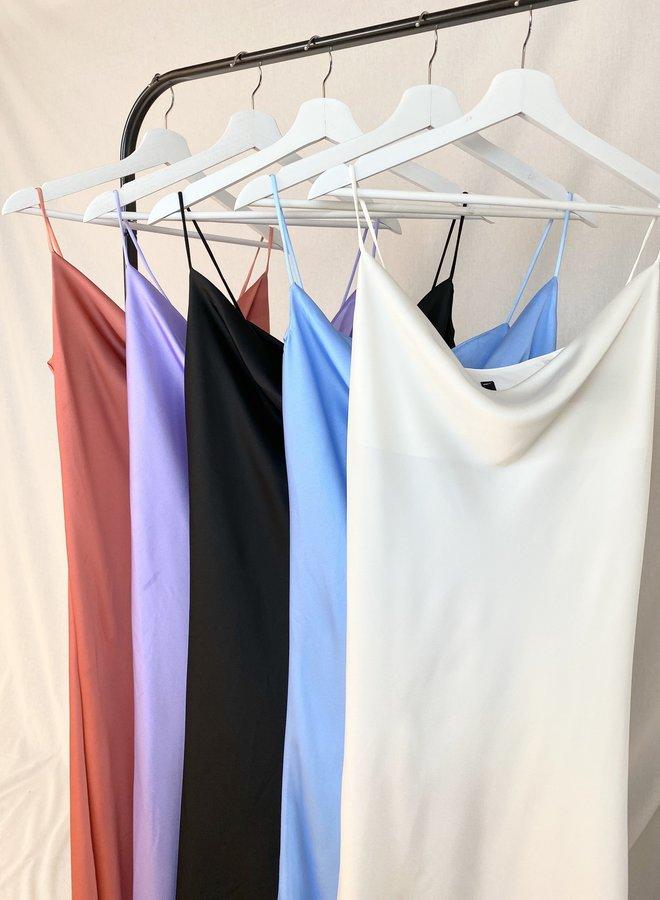 Shine Strap Dress White