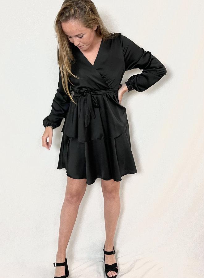 Jara Layer Dress Black
