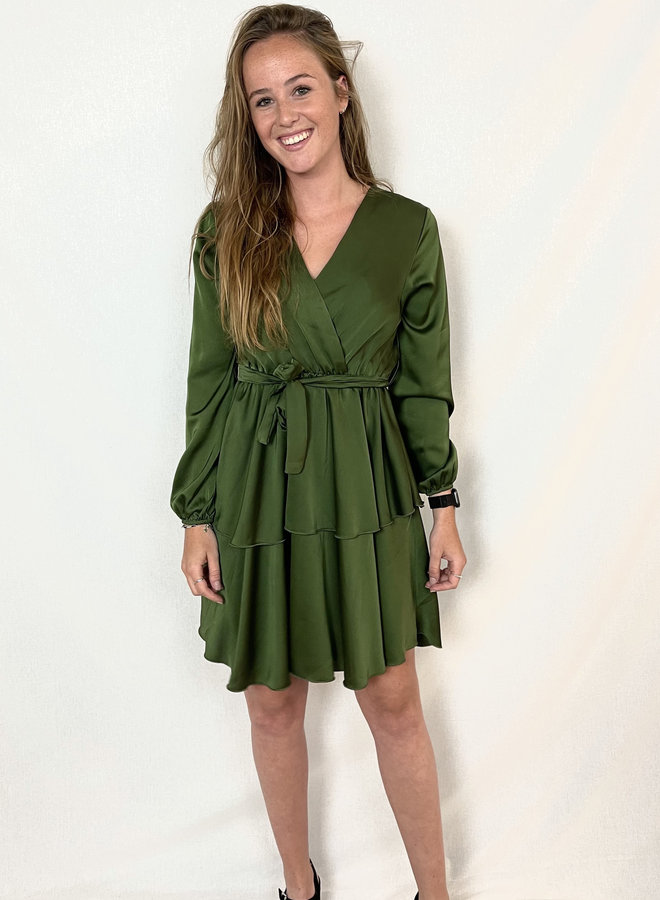 Jara Layer Dress Green