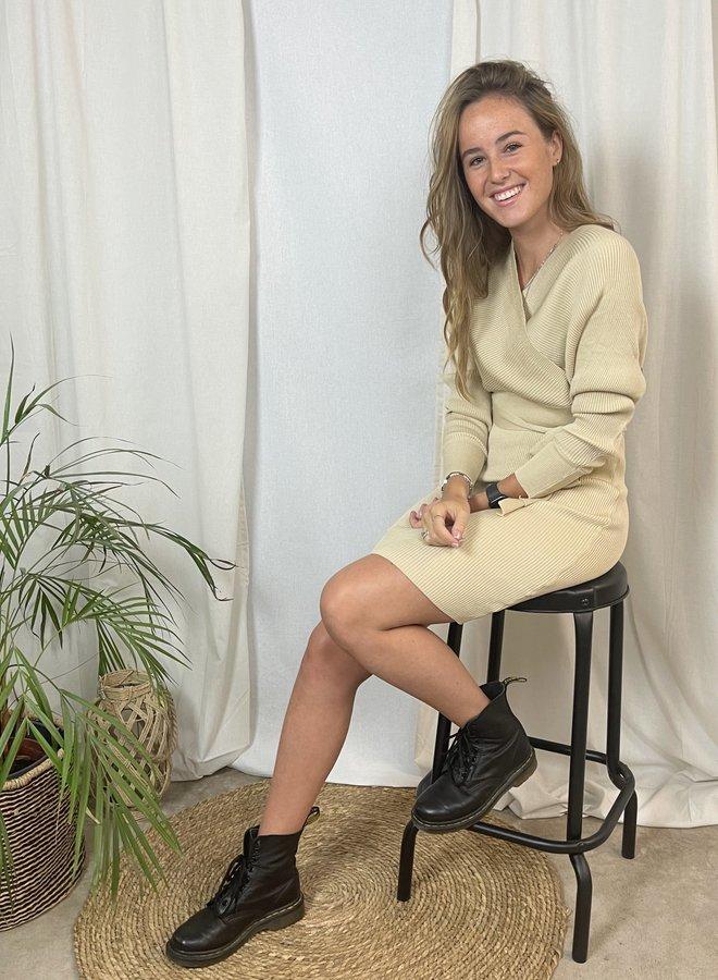 Nica Knit Dress Beige