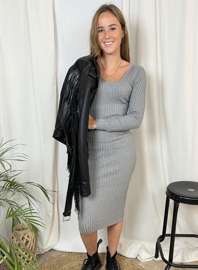 Felicia Bodycon Dress Grijs