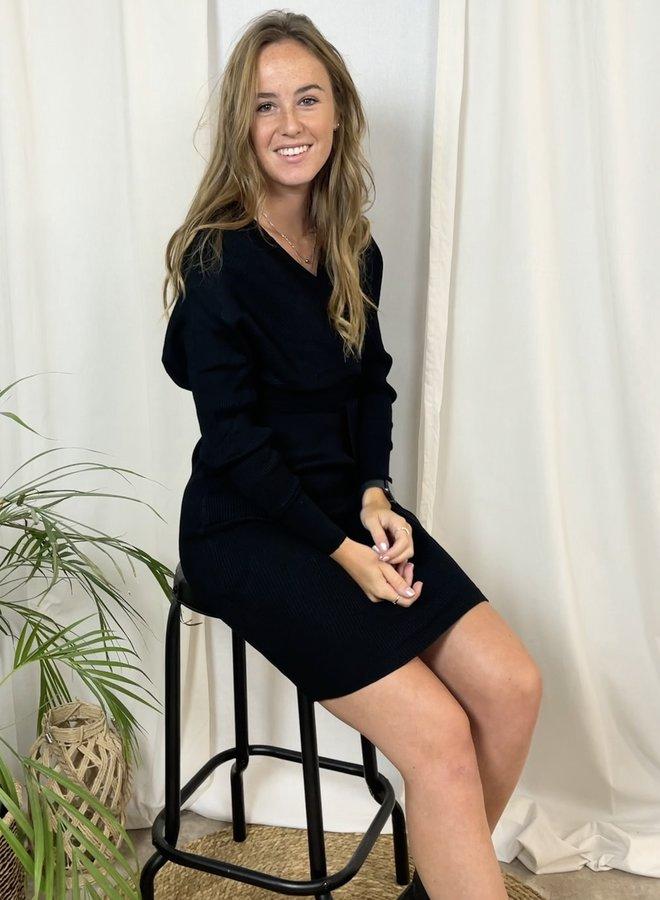 Nica Knit Dress Black