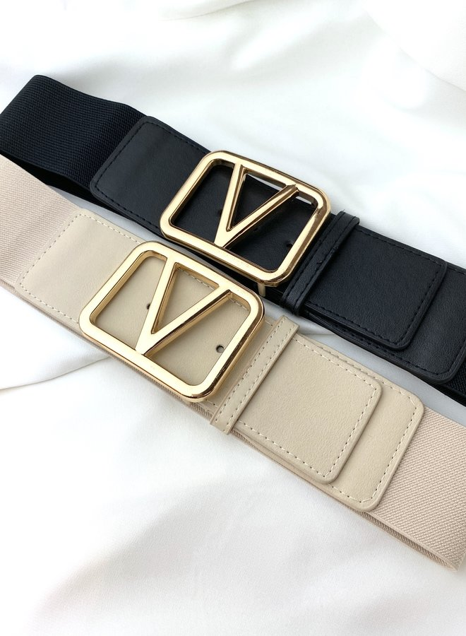 Gold Belt Beige