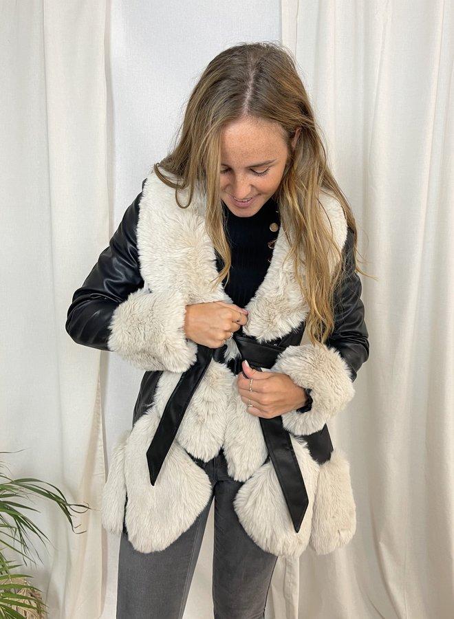Vanessa Leather Fur Jacket