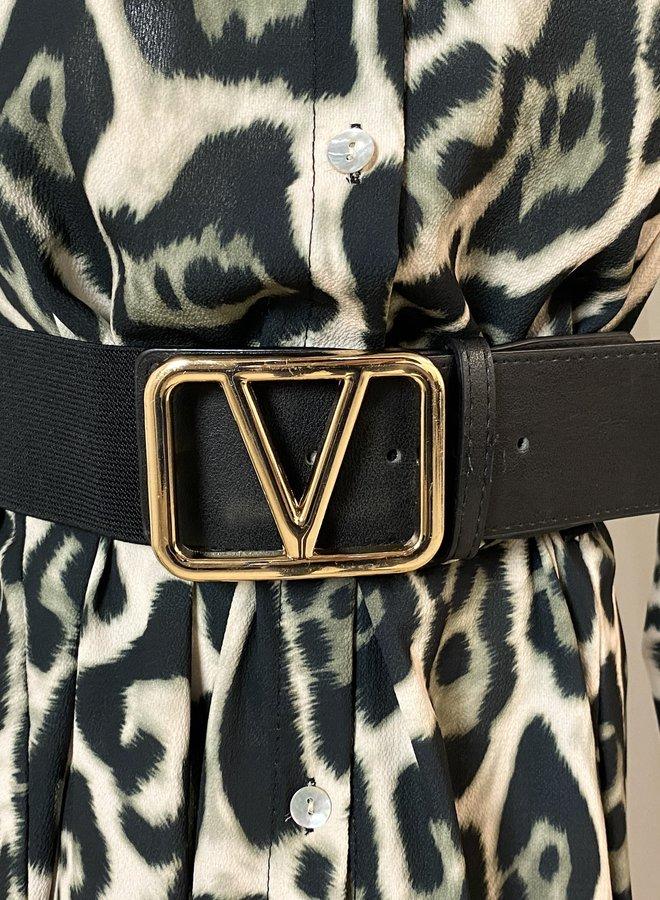 Gold Belt Black