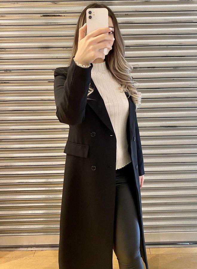 Lange jas - zwart