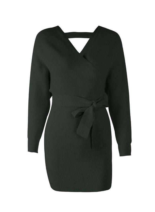 Nica Knit Dress Groen