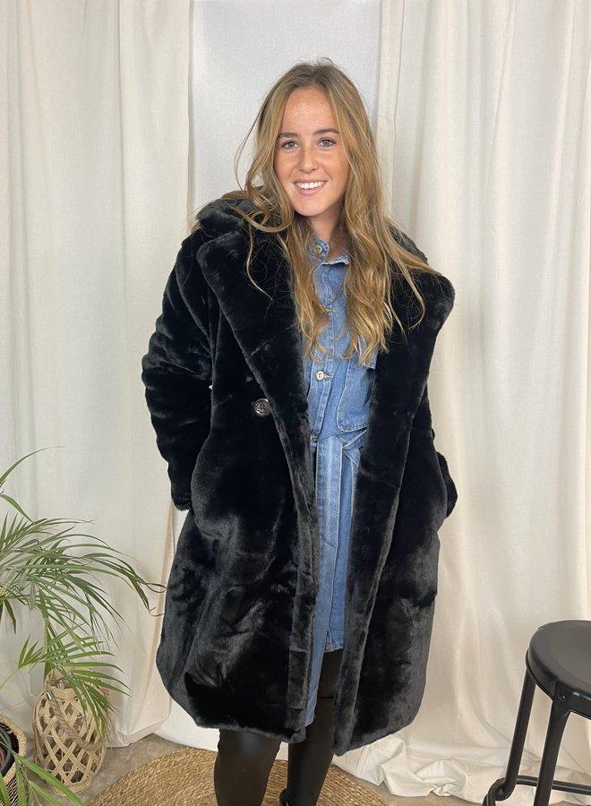 Zoe Teddy Coat Zwart
