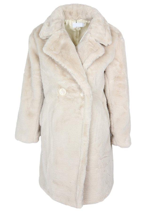 Zoe Teddy Coat Beige