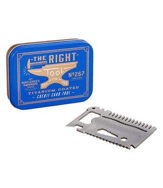 Gentlemen's Hardware Credit card multi-tool