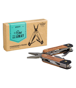 Gentlemen's Hardware Fishing Multi-Tool with Wood handle