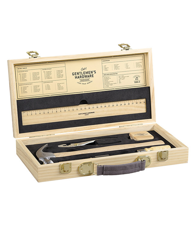 Gentlemen's Hardware Retro Tool Kit in houten koffer