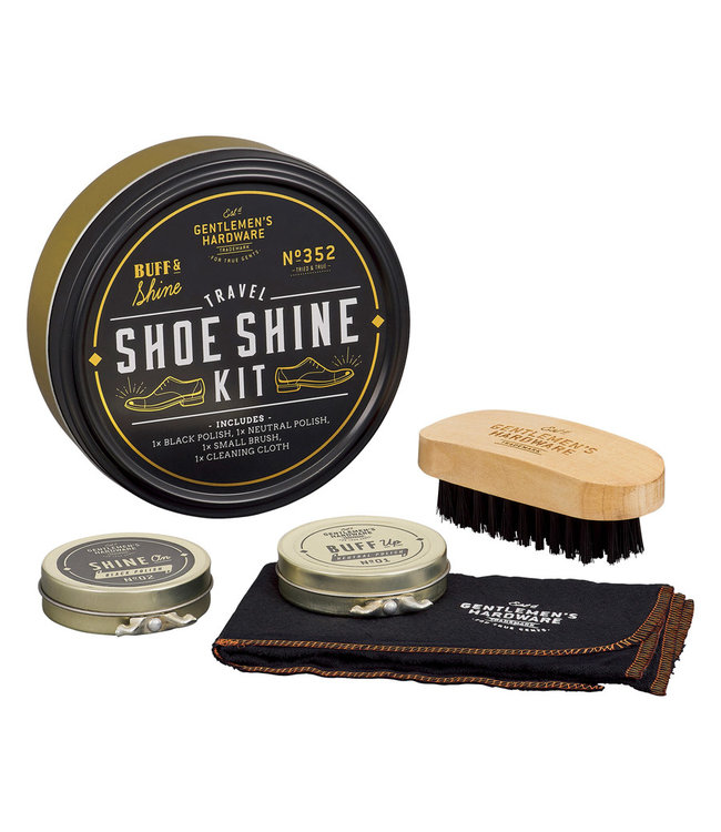 Gentlemen's Hardware Travel Shoe Shine Tin