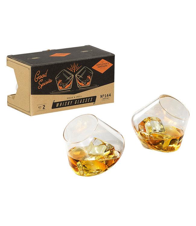 Gentlemen's Hardware Rocking whiskey glazen set van 2