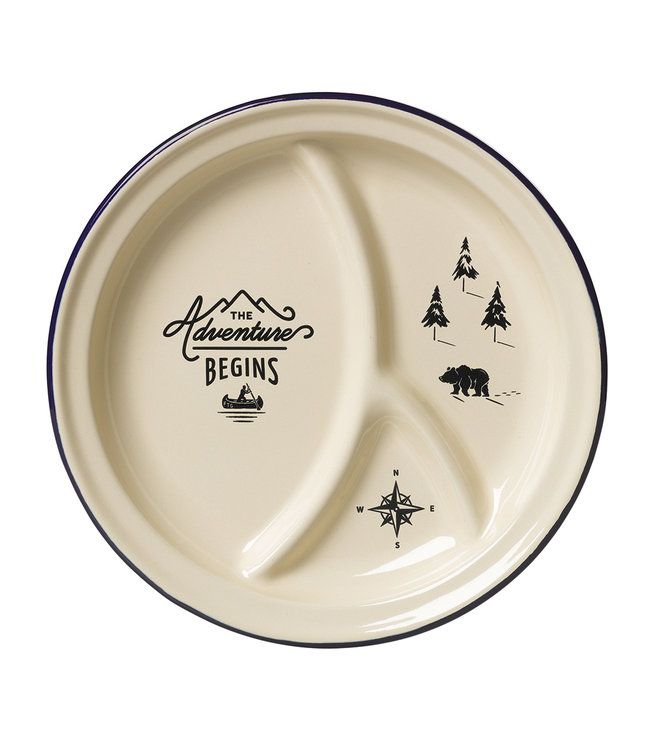 Gentlemen's Hardware Enamel Divided Plate